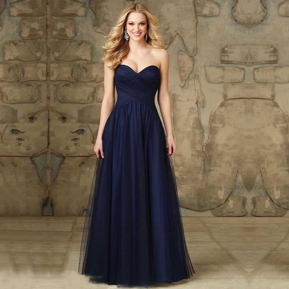 Elegant Fashion vestido de dama de honra Sweetheart Criss Cross Long A Line Chiffon font b