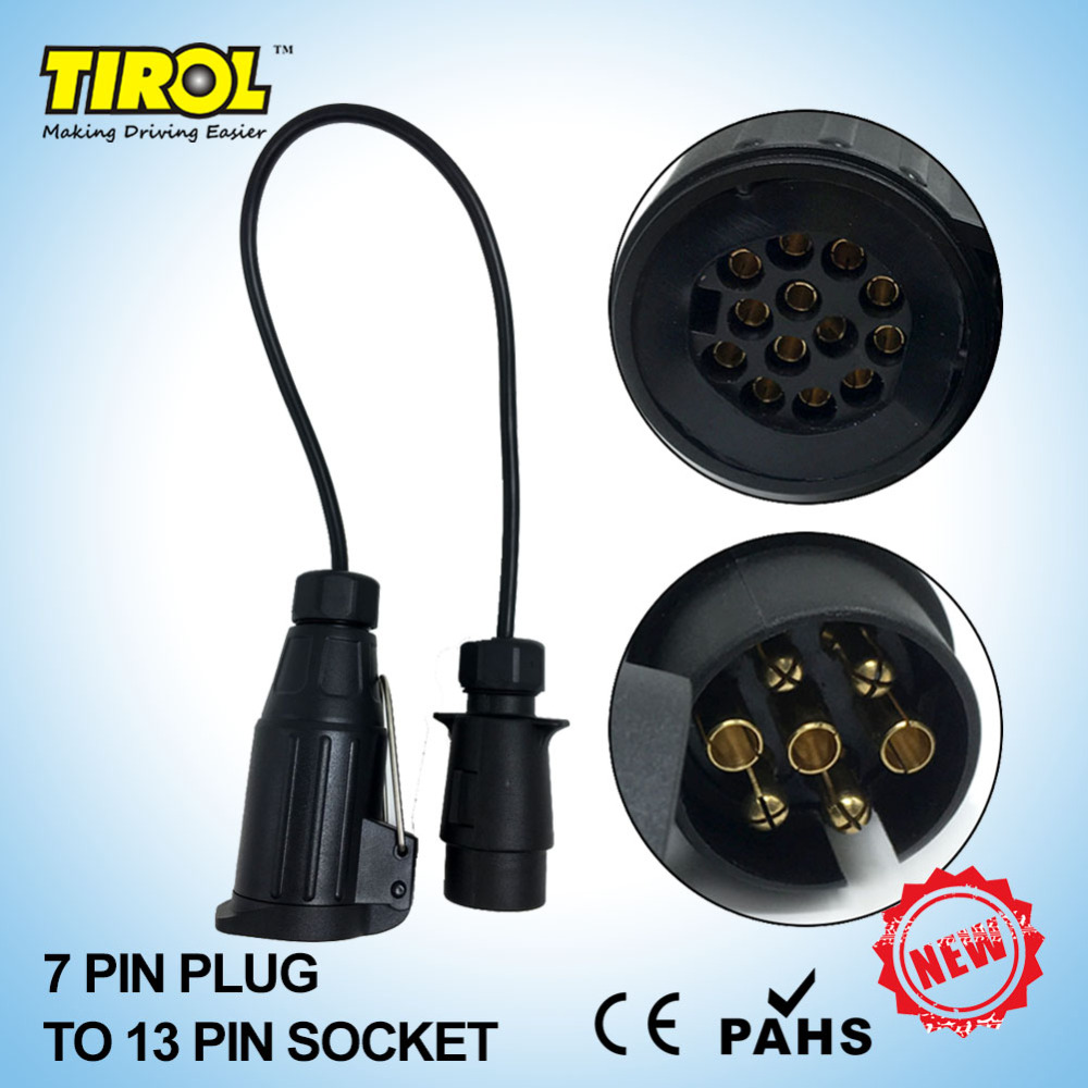 Tow Plug Wiring Tirol 7 To13 Poles Trailer With Cable Adapter Connector 12v Towbar Socket T22469a Free Shipping In Couplings Accessories From