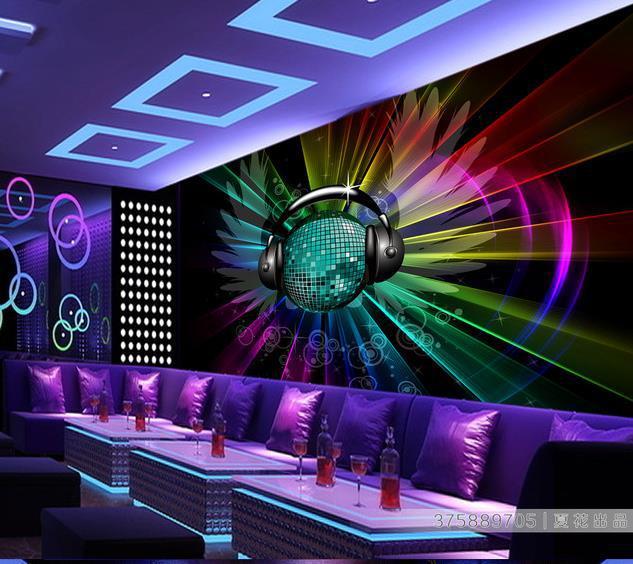 Papel de Parede HD keren bumi KTV 3d mural untuk dekorasi Interior 3d wallpaper Pengiriman gratis