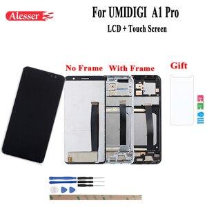 Image 1 - Alesser Cho UMI Umidigi A1 Pro Màn Hình Hiển Thị LCD Và Màn Hình Cảm Ứng Với Khung Hội Chi Tiết Sửa Chữa Cho UMI Umidigi A1 pro + Bộ Phim