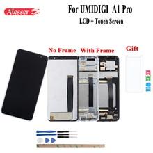 Alesser עבור UMI Umidigi A1 Pro LCD תצוגת מסך מגע עם מסגרת עצרת חלקי תיקון עבור UMI Umidigi A1 פרו + סרט
