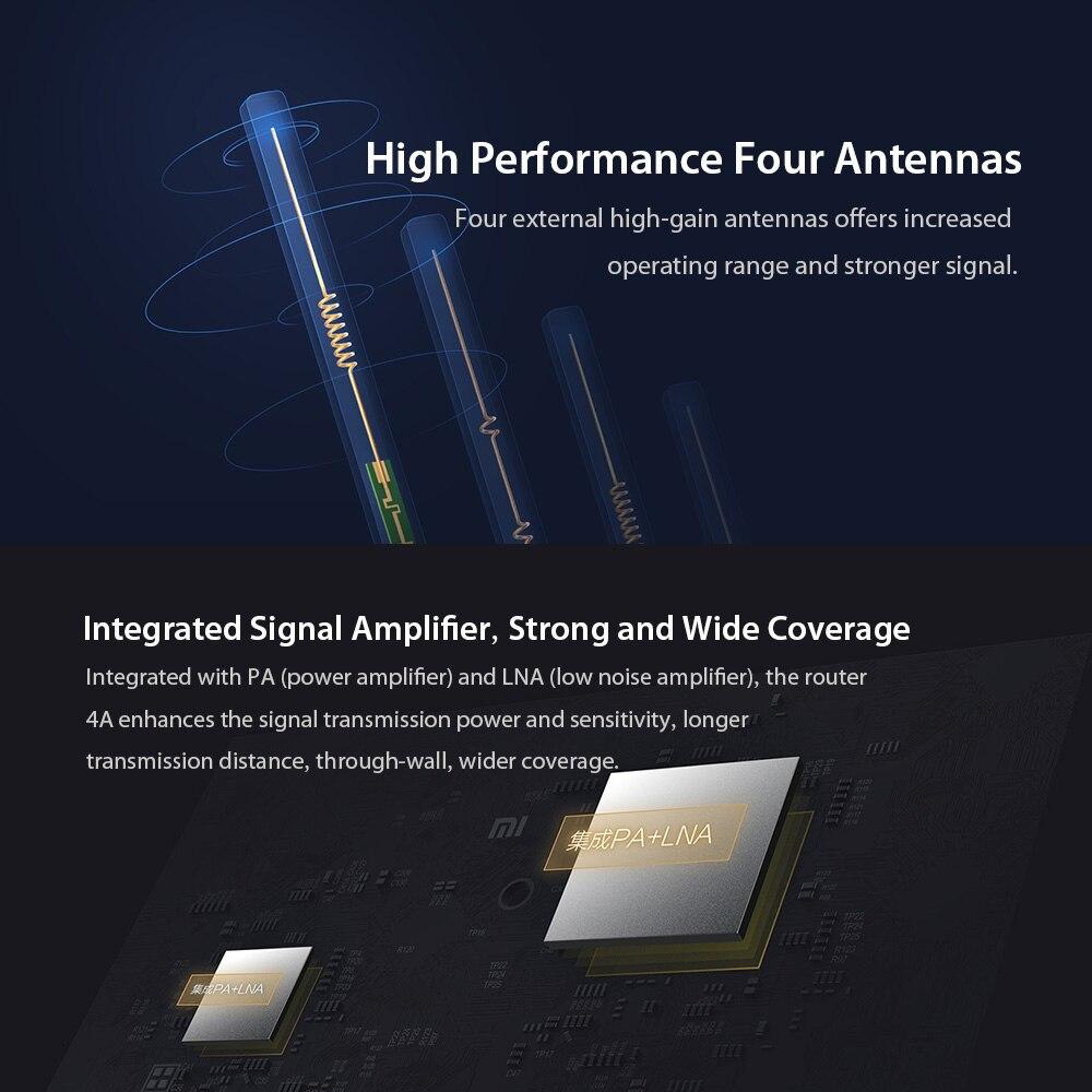 Image 5 - Global version Xiaomi Mi 4A Router Gigabit edition 2.4GHz +5GHz WiFi 16MB ROM + 128MB DDR3 High Gain 4 Antenna APP Control  IPv6