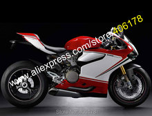 Hot Sales,12 13 14 For Ducati 899 1199 1199S Panigale 2012 2013 2014 Red White Bodywork Sports Fairings Kit (Injection molding)