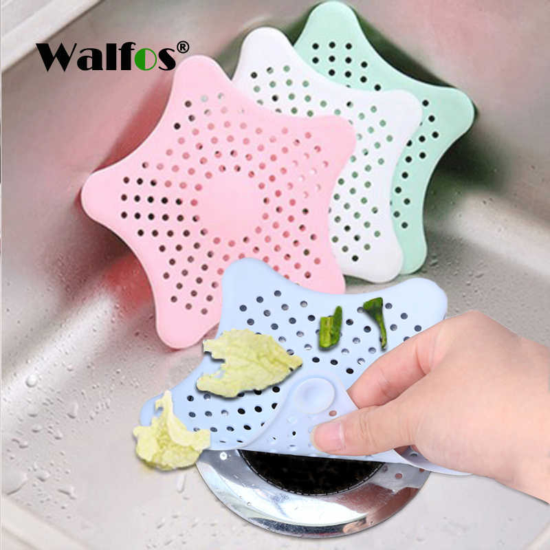 Walfos 1 PC Silikon Dapur Wastafel Filter Sewer Drain Home Cleaning Alat Rambut Saringan Saringan Filter