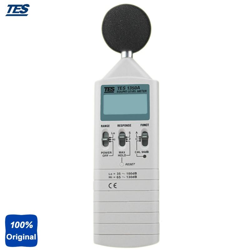 TES-1350A Precision Sound Level Tester Digital Noise Decibel Tester Sound Level Meter (35-130dB) tes 1333 solar power meter digital radiation detector solar cell energy tester