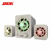 SADA 2 1 Surround Sound Speaker With Colorful Luminous Light Mobile Phone Computer Laptop PC Desktop