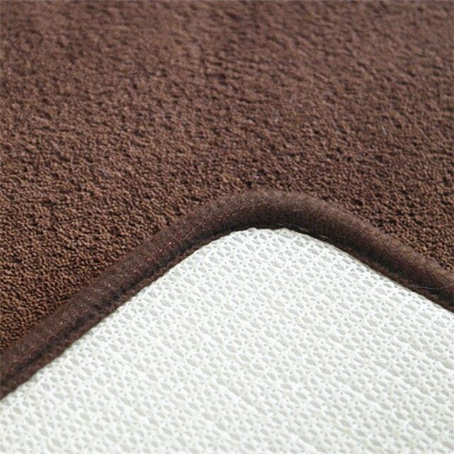 2 pz Semplice Bagno Zerbino Set di Figura di U Bagno Wc Tappeto Tappeti Antiscivolo WC Zerbino Acqua Alta Assorbente tappeti da bagno tapete box