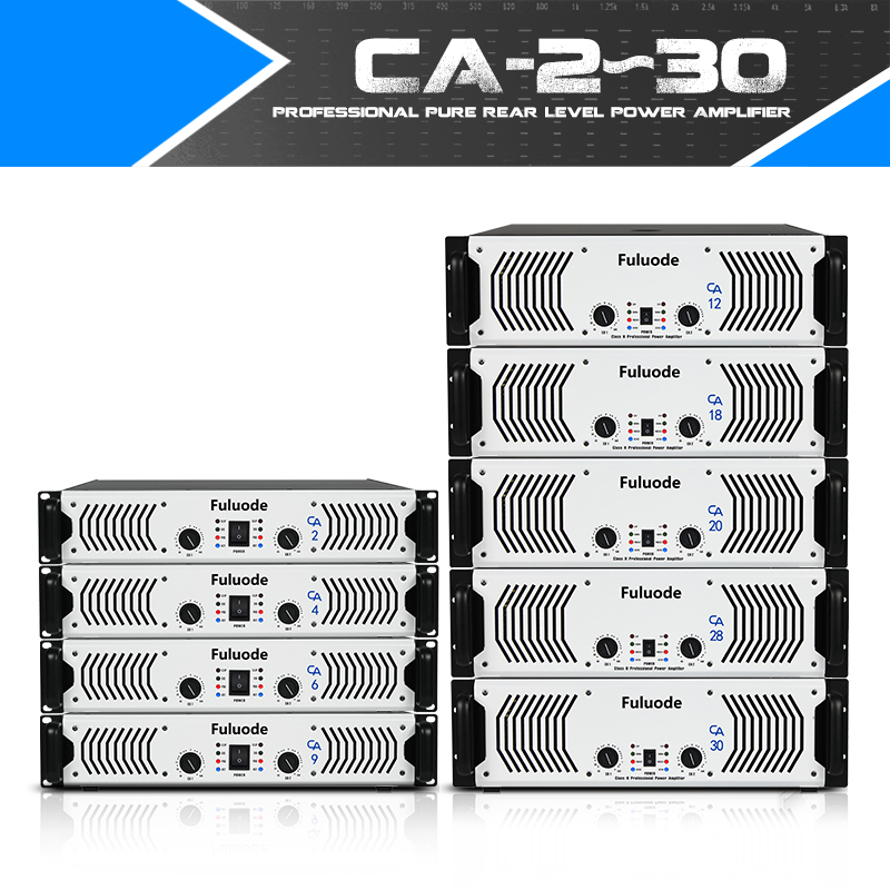 Fuluode CA 12 CA 30 Series Performance of Professional Pure Rear Power Amplifier Ultra High Power
