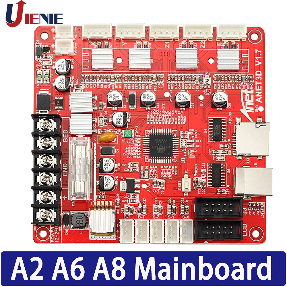 3D Printer Control Board Mainboard For Anet A8 A6 A2 3D Printer Reprap I3 3D Printer Mother Board 1PCS