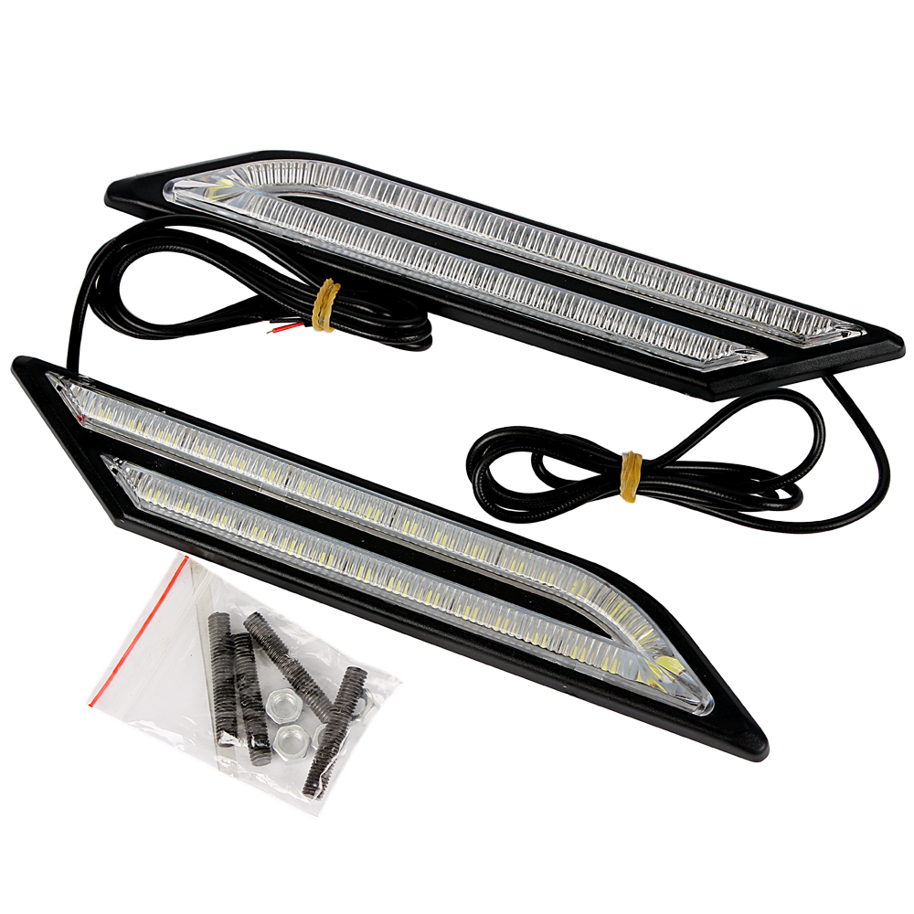 Car Styling DRL Universal 33 LEDs Car Daytime Running Lights DRL  Car daytime LED light 4in1 daytime running light 12v 12w led car emergency strobe lights drl wireless remote control kit car accessories universal