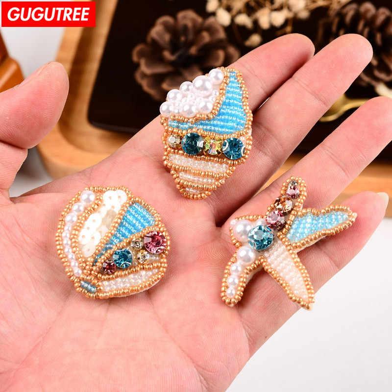 82264368f3b0 GUGUTREE con cuentas shell parches cristales de diamantes de los insectos  con lentejuelas apliques parche para
