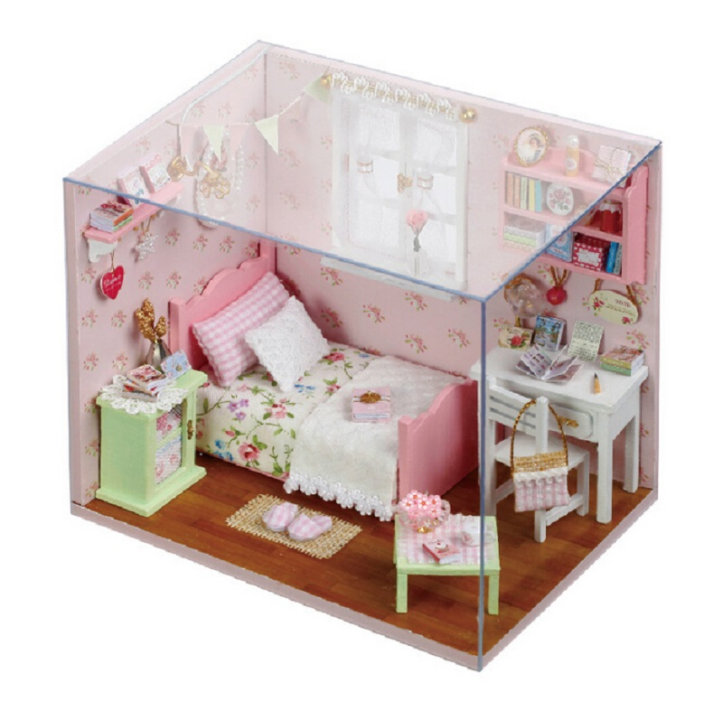 Fashion Baby Bedroom Gift DIY Dollhouse Photo Frame Series Doll House Miniature Furniture Kit