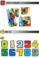 Creative Block Transformation Robot Toy Bricks Digit Number Symbol Fighter Warship Figures Building Blocks Creator Toys Gifts