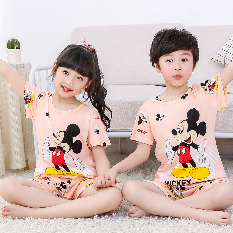 2019 Summer   Pajamas     Set   Cartoon Kids Baby Homewear Suit Cute Casual Girls Sleepping Wear Short Sleeve Boys Pijama   Set
