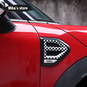 Image 3 - 1 pair Auto Outdoor Side Wing Fender Cover Stickers Turn signal Sticker For mini cooper Countryman F60 One / S  Car Accessories