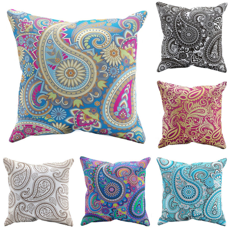 popular paisley cushions buy cheap paisley cushions lots from china paisley cushions suppliers. Black Bedroom Furniture Sets. Home Design Ideas