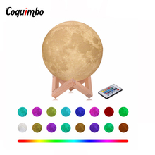 3D Moon Lamp Touch Sensor/Remote Control Novelty LED Night Light Luminaria Lua 3D Moon Light For Baby Kids Bedroom Home Decor