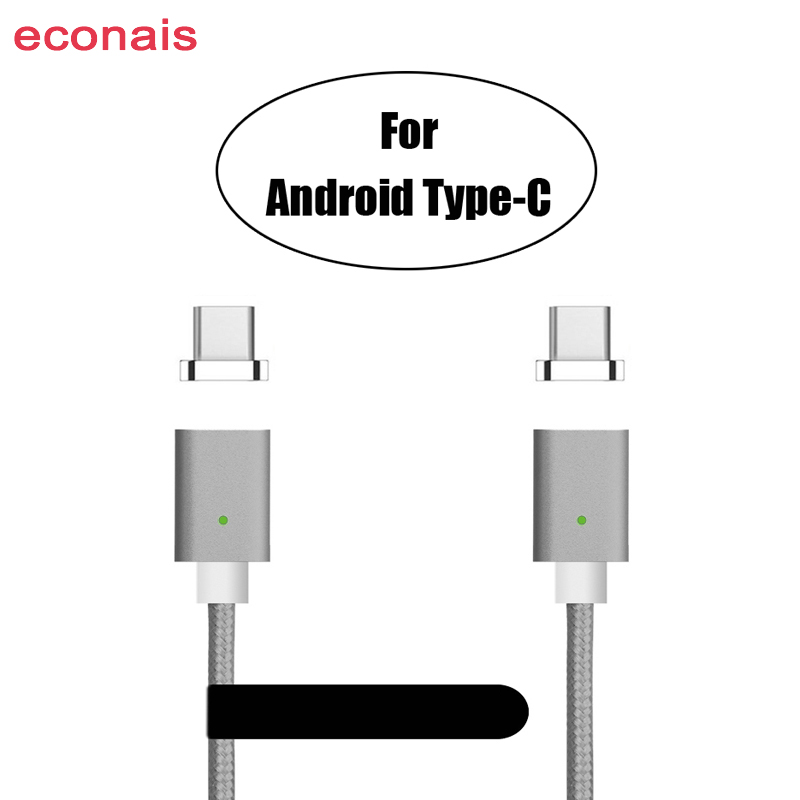 CANDYEIC USB Type-C Magnetic Cable For Samsung S9 S10 S8plus Note8 C9pro C7pro S9 C5pro A3 A5 A7 2017 LG G6 G5 V20 Nexus 5X Cord