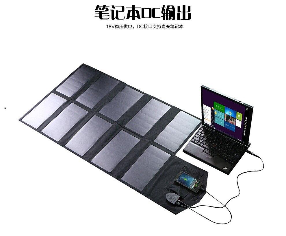 Allpowers высокоэффективные оригинальные Портативный двойной USB Солнечное зарядное устройство 18 вольт 60 Вт для телефонов, ноутбук и USB товаров