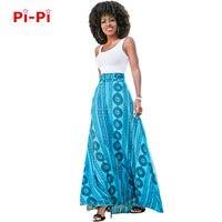 Frete grátis Nova mulher vestido de céu azul estilo de Impressão Cinto amarrado E grande e solto vestido M271
