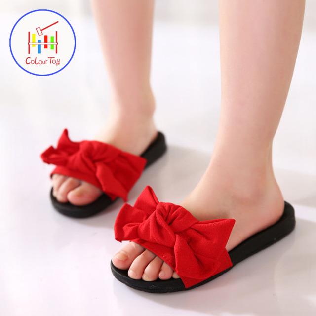 0a458eb6e612e HOBIBEAR NEW Flat Shoes Flip Flops Slippers Parent-child Shoes Girls  Fashion Cool Summer Princess Sandals Children Flower Kids