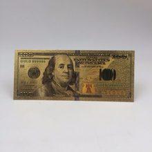 Eua notas de notas de ouro américa notas falsas todas as notas de dólar coleção de dinheiro para decoração de casa presente