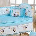 5 Unids/set de bebé juego de cama 100x60 cm cortina de algodón cómoda cama de parachoques parachoques bebé de dibujos animados juegos de cama de bebé cama