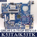 Материнская плата KEFU QBL60  оригинальная тестовая материнская плата для ноутбука ASUS K53TA K53TK K53T K53  версия 1 0