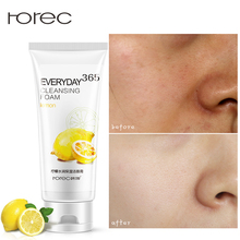 ROREC 100% Plant Pure Deep Cleansing Foam Facial Cleanser Shrink Pores Control Oil Whitening Moisturizing Aloe Vera Gel Cleanser