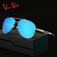 T VENI VEDI hombres sunglasses oval aleación de aluminio-magnesio polarizó las gafas de sol retro masculino gafas gafas de sol nueva