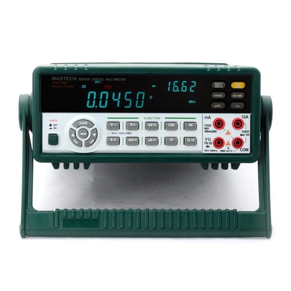 MASTECH MS8050 Professional Desktop Multimetro Digital Multimeter Auto Range Bench Top Multimeter High Accuracy True RMS RS232C цена