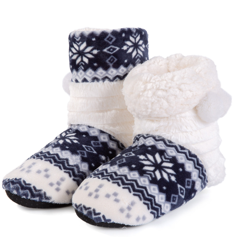 b99669e2dbc91 Christmas Slippers Kids Slippers Girls Winter Warm Shoes Boys Children  Cotton Home Shoes Fur Boots Hairball 36 39-in Slippers from Mother   Kids  on ...