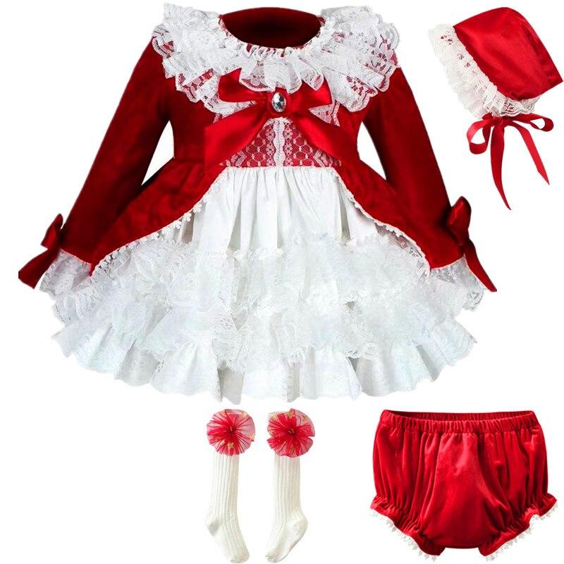 06af87044419 Cekcya Spain Dress Girls Royal Costumes Kids Princess Wedding Birthday  Dresses Party Lace Robe Fille Baby