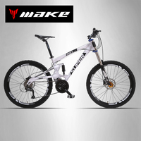 SUPER Mountain Bike Full Suspension Aluminum Frame 24 27 Speed Shimano Microshift Mechanic Hydraulic Disc Brake