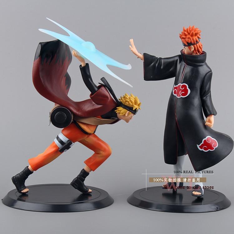 Naruto Uzumaki Naruto VS Douleur Action PVC Figure Collection Modèle Jouets Poupées 2 pcs/ensemble