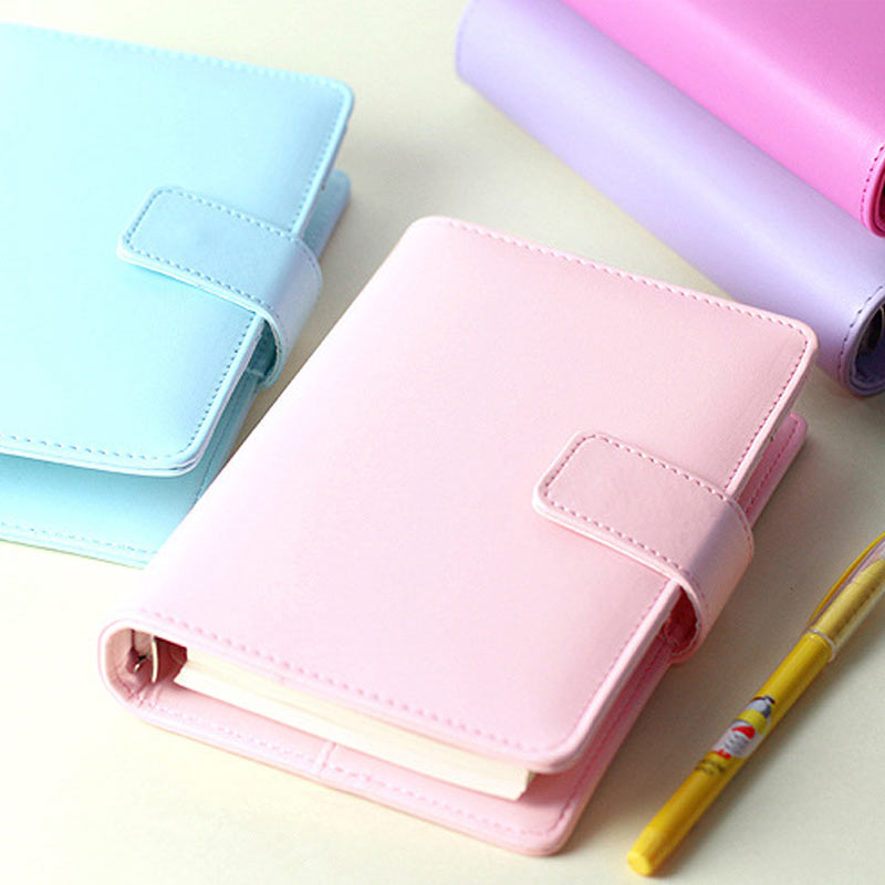 Macaron A6 laza Leaf Notebook Utazás Creative Faux Leather Planner