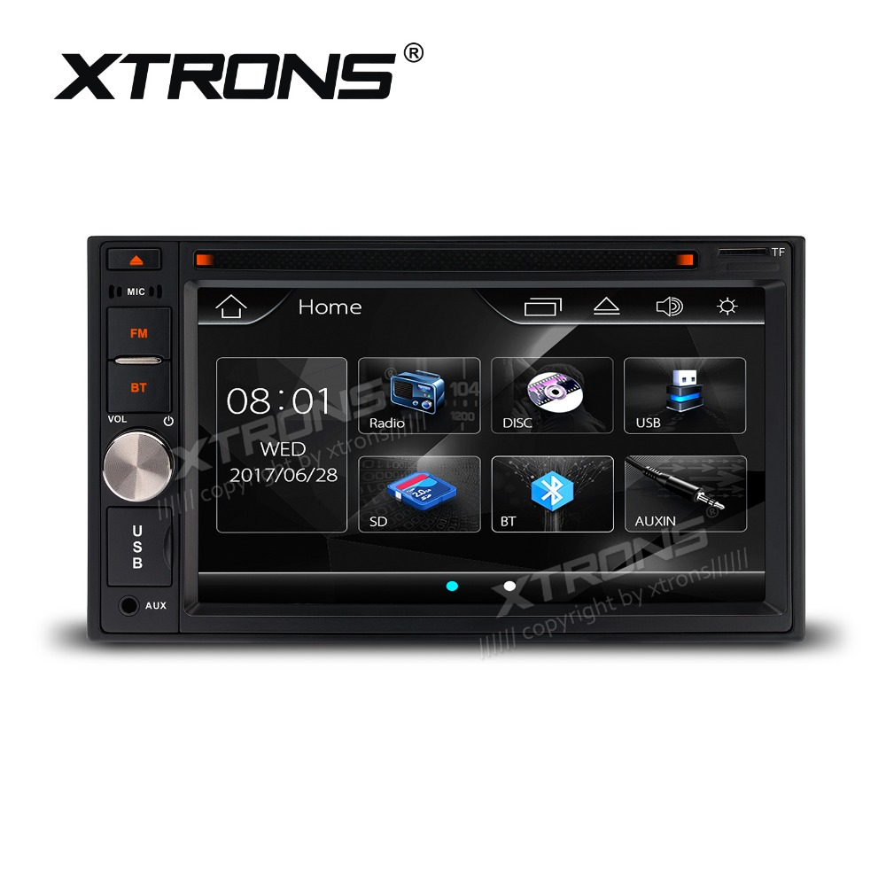 6.2 Sensitive Touch Screen Double Din Car DVD 2 Din Car Multimedia Player Two Din Car Radio with Easy to Operate UI