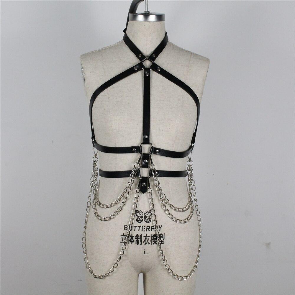 Harness Sexy Underwear Chain Belt Jartiyer Sexy Belts For Women Fantazi Seks Pastel Goth Suspenders Arnes Mujer Lingerie Femme