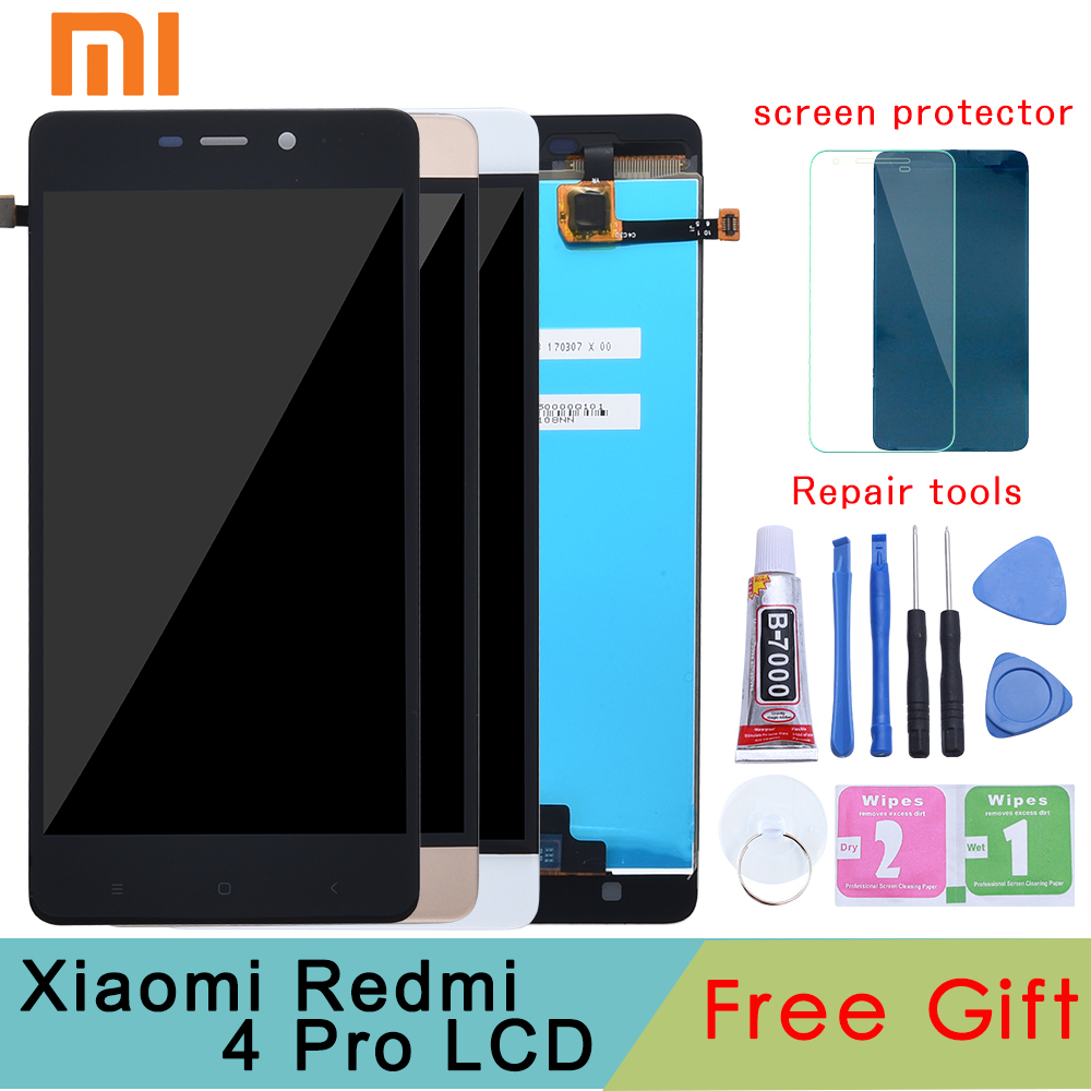 Tested Grade for <font><b>Xiaomi</b></font> <font><b>Redmi</b></font> <font><b>4</b></font> <font><b>Pro</b></font> Prime LCD Display Digitizer Touch Screen Assembly Frame <font><b>TouchScreen</b></font> Panel Replacement Parts image