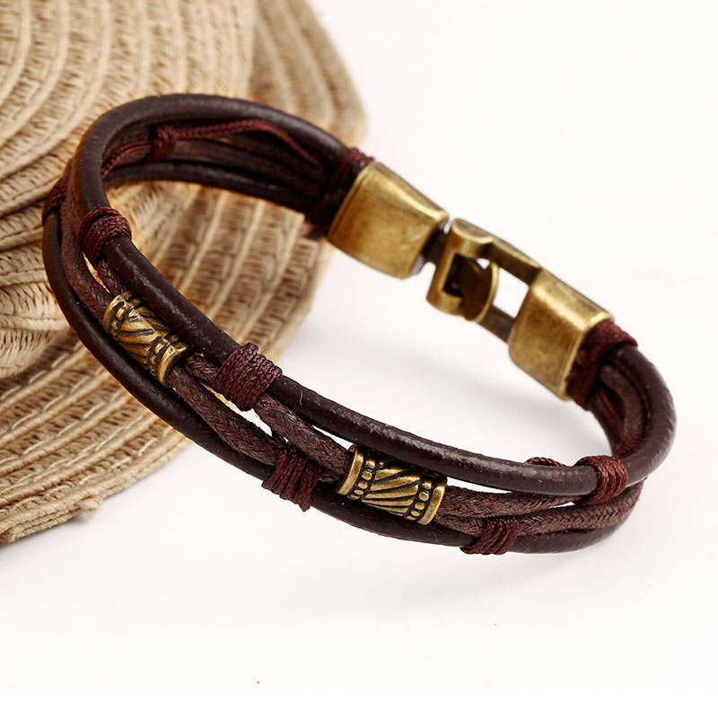 High Quality Leather Bracelets Men Jewelry Fashion Multi Layer For Women Friendship Christmas Gift In Charm From