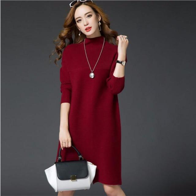 Outono inverno maternidade dress knit vestidos cor de rosa para as mulheres grávidas roupa gravidez casual dress maternidade roupas de grávida