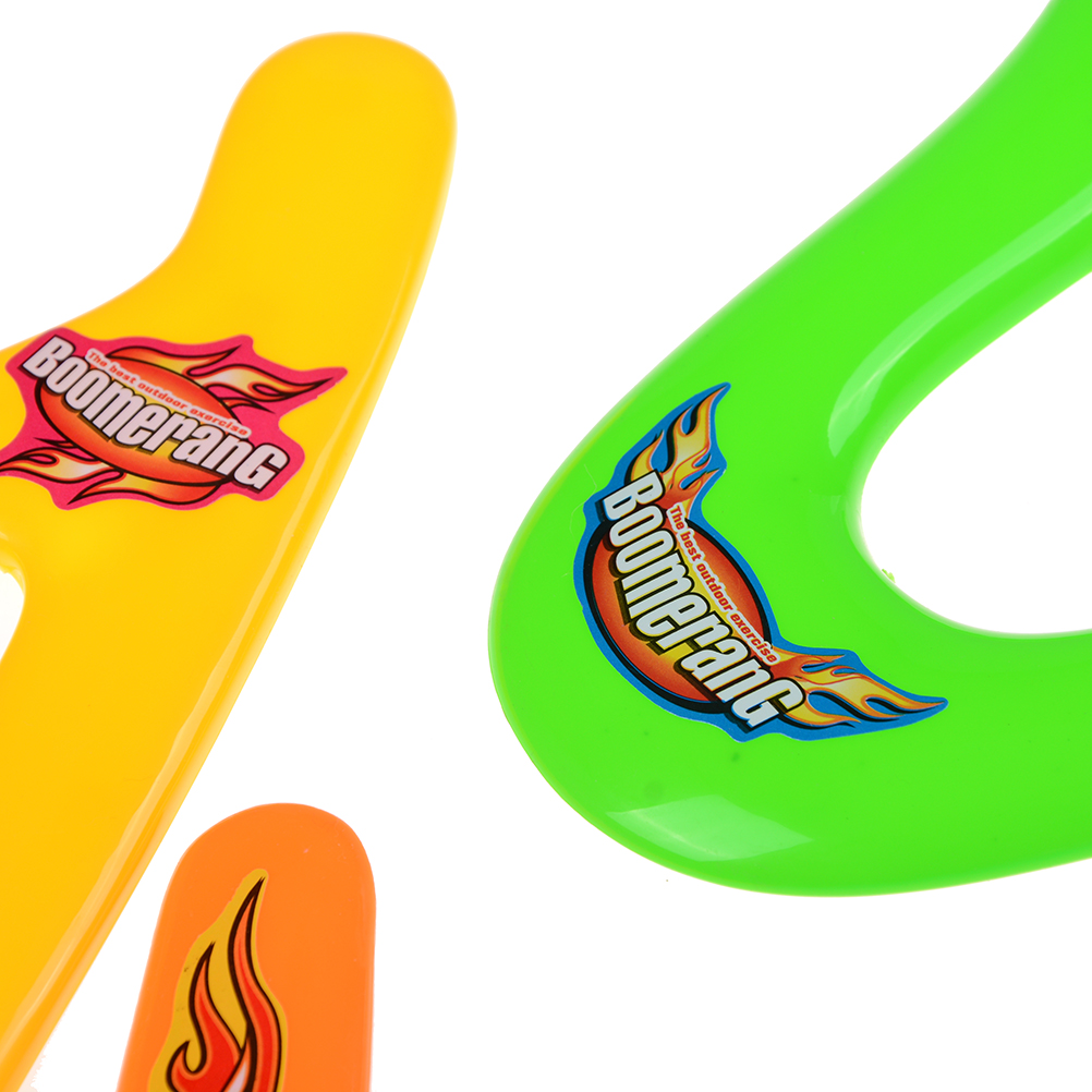 Kids 4 Shapes Colorful Boomerang Lightweight Genuine Returning Throwback