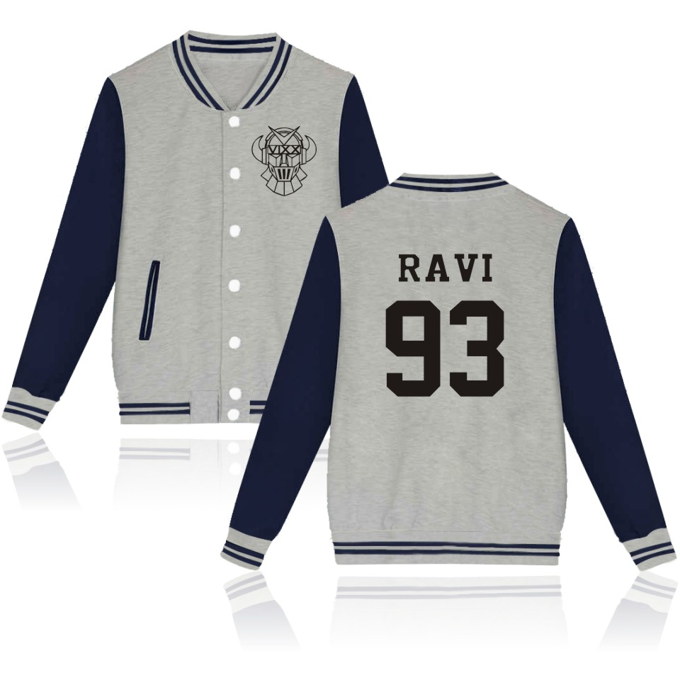Kpop Vixx Baseball Jacket Plus Size VIXX Women Men Mikina Oblečení Černá Šedá Bílá VIXX Uniform oblečení pro muže Ženy