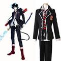Anime Ao no Exorcist Blue Exorcist Okumura Rin Okumura Yukio Cosplay Costume Full Set School Uniform ( Jacket + Pants + Tie )