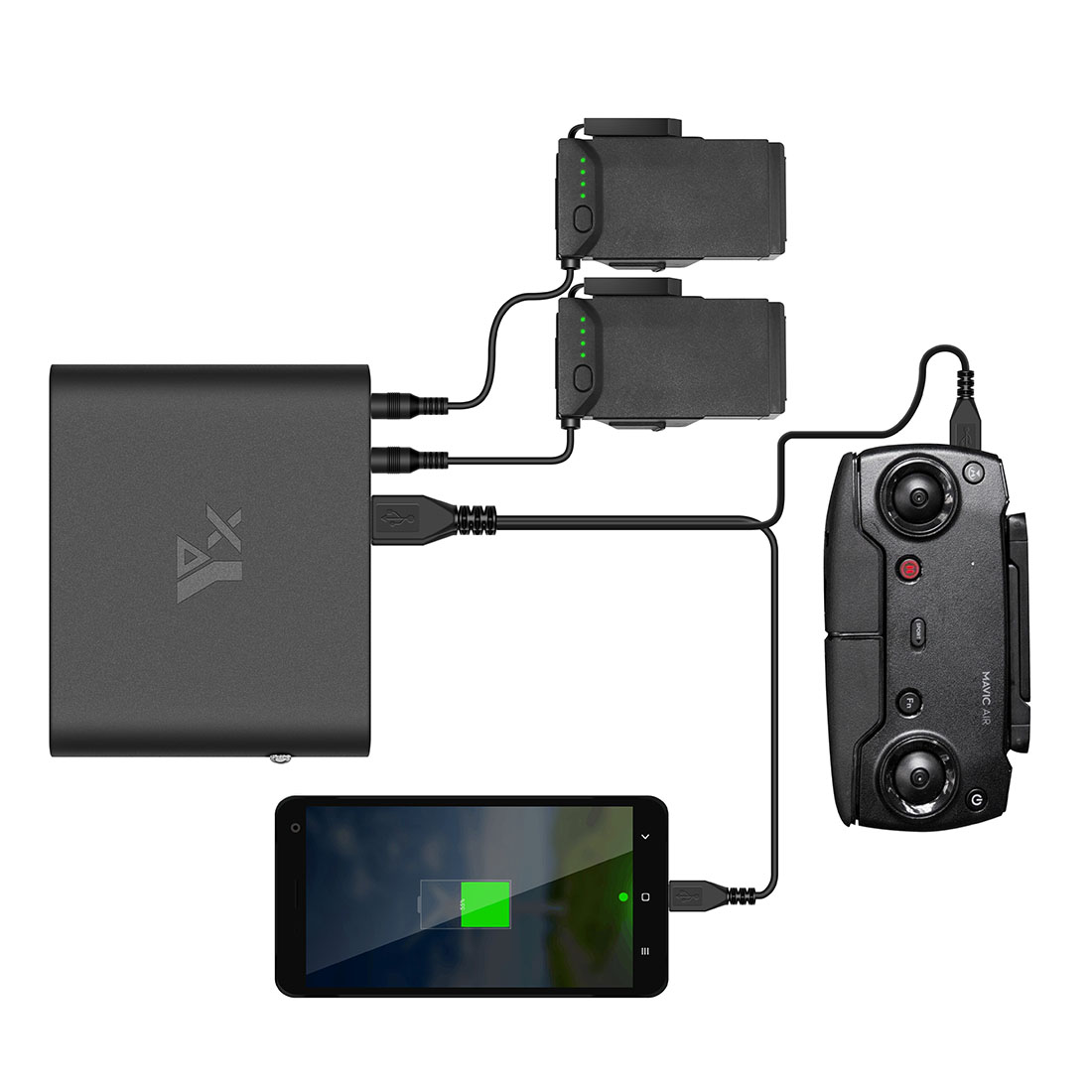 HOBBYINRC 4in1 Power Bank Mobile Power Transverter Outdoor Charger for DJI Tello Drone for National Standard