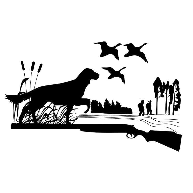 Cmcm Hunting Dog Ducks Gun Hunters Vinyl Decals Car Sticker - Sporting dog decals