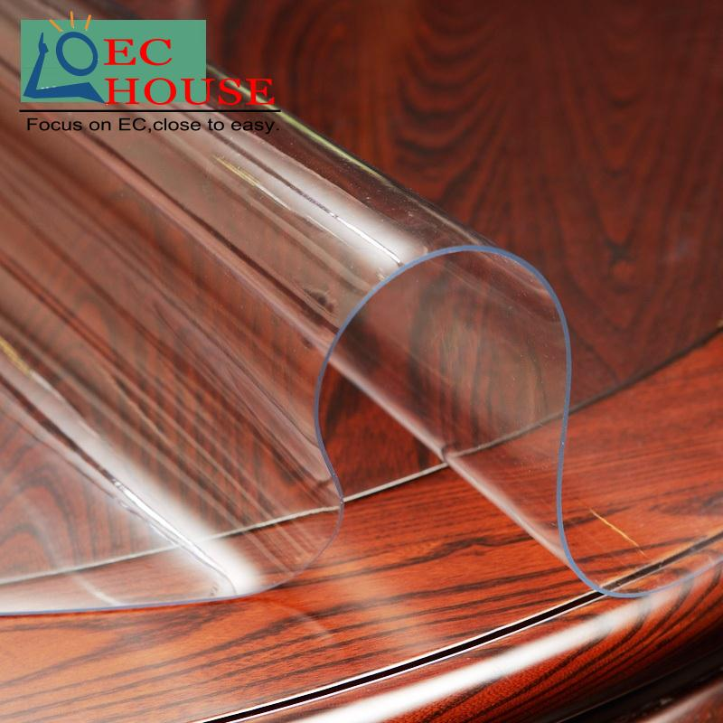 Soft glass waterproof ironing mats table cloth pad transparent PVC plastic disposable thick crystal plate FREE