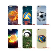 For Samsung Galaxy S4 S5 MINI S6 S7 edge S8 S9 S10 Plus Note 3 4 5 8 9 soccer ball basketball volleyball Accessories Phone Cover(China)