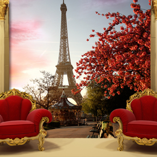 beibehang customized mural decor Paris wall background eiffel tower