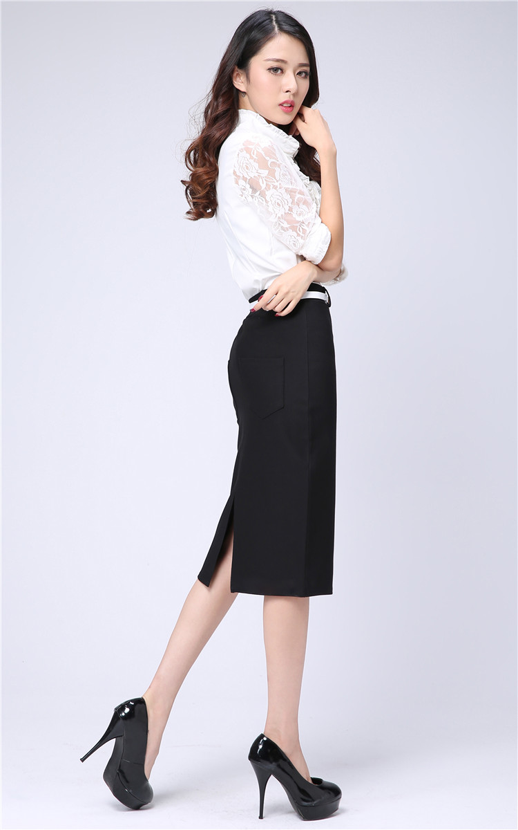 Fashion women's business suit pencil skirt Elegant wool vocational ...